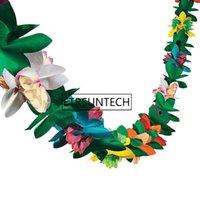 kağıt mendil çelenk toptan satış-100 adet Hawaii Festivali 3 m Renkli Doku Çiçek Garland Doğum Günü Kağıt Çiçek Garland