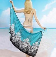 offene röcke großhandel-Frauen Strandkleid Sexy Schlinge Strandkleid Sarong Bikini Vertuschungen Wickelröcke Handtuch Open-Back Bademode