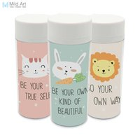Wholesale personalized cat gifts - Plastic Insulated Modern Kawaii Animals Rabbit Lion Cats Kids Water Bottles ml Gifts BPA Free With Lid Clear Personalized