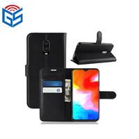 изделия из горячей кожи оптовых-Для Oneplus 6T One Plus 6T 1 + 6T премиум PU кожаный бумажник мобильного телефона чехол 2018 горячие продажи продукции