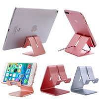 Wholesale tablet cell phone note for sale - Group buy Universal Aluminum Phone Tablet Desk Stand Mount Holder Metal Cell Phone Tablets PC Desk Stand Holder For iPhone Samsung iPad Galaxy Note