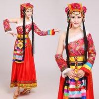 ulusal çince toptan satış-Çin geleneksel ulusal elbise Moğol Dans performansı Giyim kadın kostüm Çin dans kostümleri
