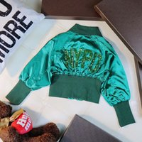 Wholesale Toddlers Girls Winter Coats 5t - 2018 Baby girls Summer Autumn coat girls jackets & coats Children green embroidery Kids outerwear Toddlers Clothing