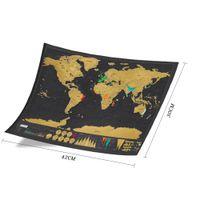 um dia de borboleta venda por atacado-Novo Design Preto De Luxo Scratch Mapa Viagem Raspar O Mapa Do Mundo Melhor Presente para a Escola de Educação 42x30 cm Com Barril de Varejo DHL Frete Grátis