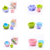 Wholesale star silicone mould for sale - Group buy 12pcs set Silicone Mold Star Cupcake Pudding Muffin Baking Nonstick and Heat Resistant Reusable Silicone baking mold GGA342