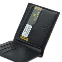 deri hediye takımları toptan satış-Yüksek kaliteli R klasikleri X erkek lüks hakiki deri cüzdan RO kart tutucu cüzdan, Erkekler gömlek Kol Düğmeleri ve kalem ve ambalaj kutusu hediye seti