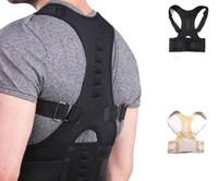 therapie zurück klammer unterstützung großhandel-Magnetic Therapy Posture Corrector Brace Schulterrückenstützgürtel für Hosenträger Unterstützt die Schulterposition des Gürtels