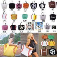 moda pamuklu çanta torbaları toptan satış-20 stilleri Kanvas Çanta Beyzbol Tote Spor Çanta Moda Softbol Çantası Futbol Futbol Basketbol Pamuk Kanvas Tote Çanta