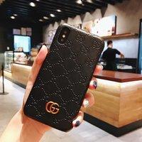 tasarımcı samsung toptan satış-Lüks Telefon Kılıfı için Iphone X XR XS Max 7 7 artı 8 8 artı Deri Sert Tasarımcı Kılıf Samsung note9 S9 S9 için artı S8 S8plus