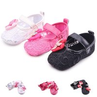 99f34d0e54079 New Newborn Baby Girl Shoes Princess Lace Hollow Big Bow Spring Soft Soled  First Walker Infant Toddler Crib Bebe Shoe
