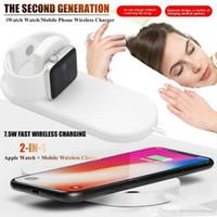 ingrosso caricabatterie da orologio samsung-Per Watch Apple Series 5 4 3 2 QI Wireless Charging Pad veloce Caricabatteria per IPhone IWatch 11 Telefono Dock Station carica rapida