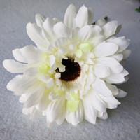 искусственные свадебные букеты ромашки оптовых-Daisy 10 шт. Высокое качество искусственные цветы шелковые герберы ромашки букет декоративный цветок для комнаты украшения дома свадьба