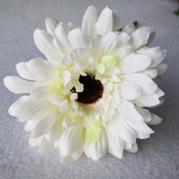 margaridas artificiais dos ramalhetes do casamento venda por atacado-Margarida 10 PC de Alta Qualidade Flores Artificiais De Seda Gérbera buquê de flores decorativas para a decoração da festa de casamento em casa quarto