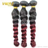 mix tone hair NZ - Peruvian Ombre Hair Extensions Two Tone Human Hair Weaves 3 Bundles Peruvian Loose Wave Ombre Virgin Weave Ombre Human Hair