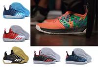 leder speichert online großhandel-Harden Vol 2 Basketballschuhe Online Shop 2018 neue getrommelte Leder in voller Länge Schuhe Mode Sporttraining Sneakers Laufsportschuhe