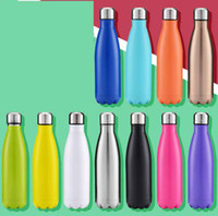 Wholesale coke cars resale online - 17oz ml Cola Shaped Bottle Insulated Double Wall Vacuum high luminance Water Thermos Coke cup Tumbler Cups Car Beer Cups colors