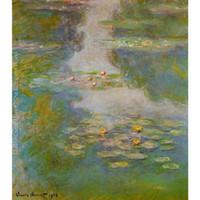 pinturas a óleo de água venda por atacado-Pinturas a óleo famosas de Claude Monet reprodução mão pintada Water-Lilies Canvas art