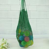 Wholesale Christmas Groceries - Hot Sale Reusable String Shopping Grocery Bag Shopper Tote Mesh Net Woven Cotton Bag Portable Shopping Bag