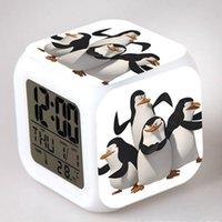 dijital masa saatleri toptan satış-Madagaskar Penguenleri LED Dijital Çalar Saat Skipper / Kowalski / Özel reloj despertador İzle horloge digitale Saat Tablosu