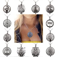Wholesale can pendants resale online - New Pattern Ornaments Necklace Can Open Locket Pendant Essential Oil Aromatherapy Phase Box Charm No Chain Stainless Steel zr jj