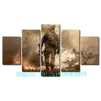 Wholesale Battlefield Figure - Battlefield Soldier,5 Pieces Canvas Prints Wall Art Oil Painting Home Decor  (Unframed Framed)