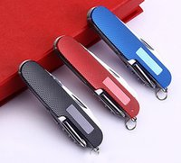 Wholesale Multifunctional aluminum folding gift knife Swiss gift Saber function Saber