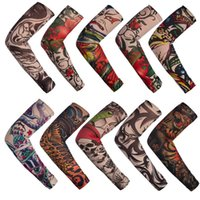 Wholesale Tattoo Sleeves Men and Women Nylon Temporary Tatto Arm Stockings Oversleeves Fake Tattoo Sleeves DHL
