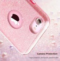parpadeo del iphone al por mayor-Fundas para iPhone 6 Plus Blink Glitter Gradient Case TPU Fundas para iPhone 8 Plus X