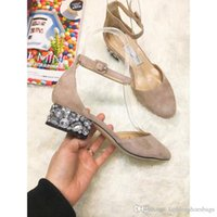 Wholesale strappy sandals rhinestones - 2018 Fashion Ladies Jimm FC Choo LANG Patent Leather Nude Strappy Peep Toe Pumps Ice Dusty Glitter Annie Peep Sandals Shoes Heel With Box
