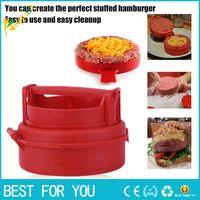 Wholesale make cook - New Stuffed Burger Making Press Hamburger and Meat Patties Maker Kitchen Cooking Tool