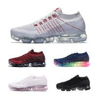 Wholesale light up fashion - New Arrivals Men Vapormax Shock Racer Running Shoes all white black red gray red Top quality Fashion Casual Vapor Sports Running Shoes