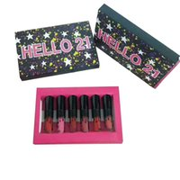 ingrosso lipgloss brillante-Il trucco più nuovo Lip Gloss Hello 21st Birthday Collection Hello 21 6-color Matte Lip Gloss Rossetto Sorseggiare Pretty DHL consegna gratuita