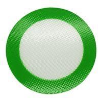 almohadilla de calor de calidad al por mayor-Calidad FDA grado alimenticio reutilizable antiadherente concentrado bho cera liso aceite redondo resistente al calor fibra de vidrio silicona dab pad mat