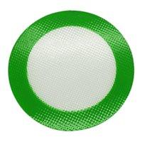 kaliteli ısı yastığı toptan satış-Kalite FDA gıda sınıfı kullanımlık olmayan yapışmaz konsantre bho balmumu kaygan yağ yuvarlak isıya dayanıklı fiberglas silikon dab ped mat
