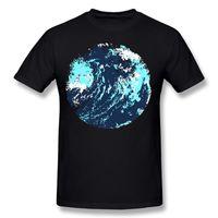 ingrosso vernice astratta dell'onda dell'oceano-Nuovi Uomini Cotone Dipinto astratti artistico onda maverick oceano arte T-Shirt Uomo Girocollo Bianco Manica Corta Camicia T Shirt Plus Size Personalità