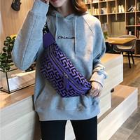 ingrosso cintura di moneta rosa-La nuova borsa a tracolla con tracolla di design PU Sacchetti in vita materiale Bumbag Cross Marsupio Marsupio Marsupio