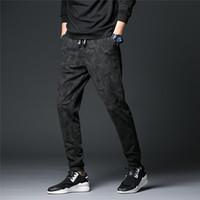 grande taille vêtements corée achat en gros de-Hommes Pantalons De Sport Plus Taille Automne Mode Corée Styles Mâle Occasionnels Pantalons Coton Lâche Vêtements Doux
