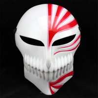 Wholesale bleach ichigo full cosplay for sale - PC Cosplay Party Plastic Death Ichigo Kurosaki Bleach Mask Dance Masquerade Party Cosplay Halloween Full Face Mask VDY42 P50