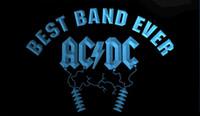 ingrosso best band ever-LS1534-b- Best Band Ever ACDC 3D LED Neon Light Sign Personalizza su richiesta 8 colori tra cui scegliere