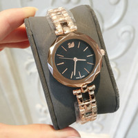 Wholesale branded girl watch stainless steel for sale - Group buy 2018 rose Fashion Girl stainless steel gift luxury watch women quartz clock casual Brand new nice Feminino Montre Femme Relogio Wristwatches