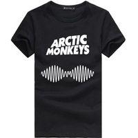 monos de roca al por mayor-2018 Recién llegado de impresión Rap Rock Hip Hop camiseta Hot Zomer O-cuello de manga corta para hombre Arctic Monkeys Song letras música banda camisas