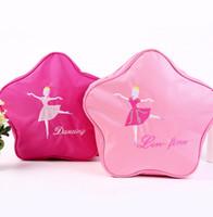 bale bluz çantaları toptan satış-Yıldız Barre Bale Sırt Çantası Kızlar Dans Çantaları küçük çocuklar için Todllers Çocuk Aksesuarları kızlar için Pembe çanta hediyeler