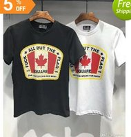 ropa de canadá al por mayor-Nacido en Canadá Verano 3d Floral Skull T Shirt Hombres Nueva Moda Slim Fit Vintage Tops Marca Ropa TD017039