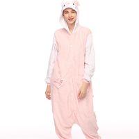 Wholesale unisex adult kigurumi animal online - Cartoon Animal KT Cat Unisex Adult Onesies Onesie Pajamas Kigurumi Jumpsuit Hoodies Sleepwear For Adults Welcome Order