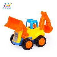 Wholesale toy bulldozers - 1PC HUILE TOYS 326A New Baby Cars Truck Toy Kids Toys For Children Small Pull Back Bulldozer Truck Boys Brinquedos Juguetes