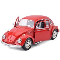 Wholesale alloy replicas - R Beetle 1976 1:36 Toy Vehicles Alloy Pull Back Mini Car Replica Authorized By The Original Factory Model Toys Collection Kids