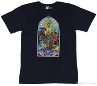 imagens roupa venda por atacado-2018 Novo Verão Camisetas Shovelknight Cavaleiro Pá T-Shirt Dos Homens-Stained Glass Estilo cavaleiros imagem Nova Marca Roupas Casuais