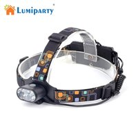 Wholesale T6 Led Light Bulb - Lumiparty 2 T6 Headlamp Ultra Bright 3 Modes Micro USB Charged Adjustable Head Light for Outdoor Activities Camping Fishing