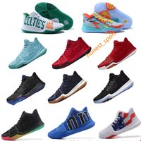 Wholesale Army Shoes For Kids - 2018 newest Kyrie Irving Basketball Shoes for Men women kids youth Signature Kyrie Irving 3 III Sports Training Sneakers, size US size5.5-12