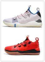 zapatillas naranja kb al por mayor-Drew League Game Basketball Shoes Kobe AD React Éxodo Rojo Negro Naranja Calzado deportivo de calidad AAA KB 14 para hombre Zapatillas de deporte zapatillas de deporte Tamaño 40-46